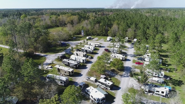 Bay Hide Away RV Park and Campground aerial view
