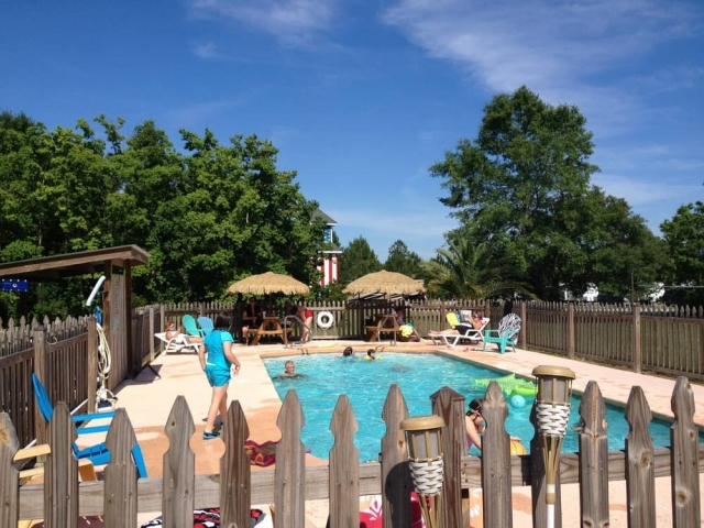 Bay Hide Away Campground pool fun